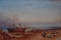 Australian stranded - Mouille light - Table Bay - Cape of Good Hope by Bowler, Thomas William