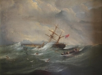 Wreck of barque Royal Albert in Table Bay by Bowler, Thomas William