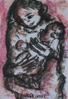 Untitled - mother and child by Claerhout, Frans Martin