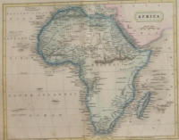 Antique map of Africa by Hall, Sidney