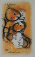 Mother with child by Selepe, Daniel