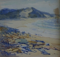 Rocky beach by Willis, L