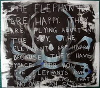 The happy elephants by van der Merwe, Hentie