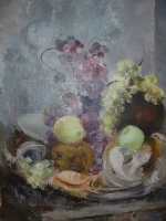 Still life with fruit (grapes) by Higgs, Cecil