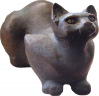 Bronze pussycat by Quin, Maureen