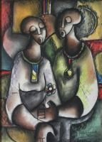 Ladies talking by Sibeko, Peter