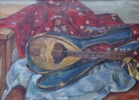 Still life with mandolin by Sumner, Maud Frances Eyston
