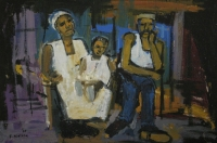 Man, woman and child by Ngatane, Ephraim Majalifa