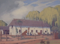 Cape cottage by Pierneef, Jacob Hendrik