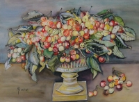 Still life - cherries by Rauch, H
