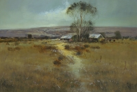 Country house near large tree by Brigg, Mel
