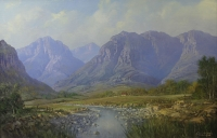 The Breede river near Worster by de Jongh, Gabriel Cornelis