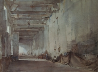 Painting the arcade by Russell - Flint, Sir William