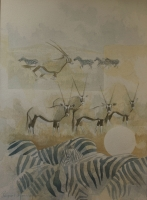 Zebra and Gemsbok by Hanley, Rupert