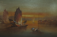 Chinese sail boats by Leung