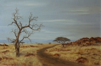 Scenery with road and tree by Van der Wolf, Nick
