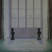 Two vases in the louvre by Hockney, David