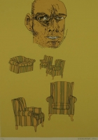 Face, couch & chairs by Kannemeyer, Anton