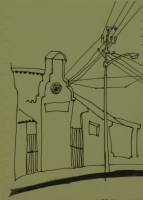 Cape dutch building - street lights & electric cables by Relly, Tamsin