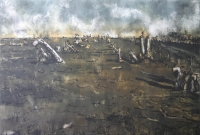Unburied dead II - memorial landscape by Berman, Kim
