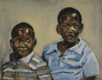 Untitled - 2 young black boys by Dyaloyi, Ricky Ayanda