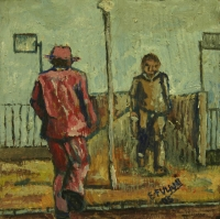 2 men in township by Fulani, Ernest