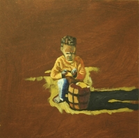 Metomorphosis - boy sitting in front of basket by Magunya, Lindile
