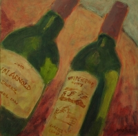 2 wine bottles by Vanyaza, Mandla