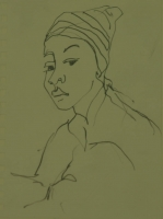Lady with hat on by Relly, Tamsin