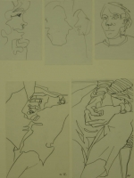 5 sketches - hands & faces by Relly, Tamsin