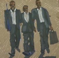 3 men in suits by Fulani, Ernest