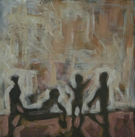 Silhouette of people dancing by Mqhayi, Fikile