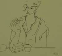 Woman eating by Relly, Tamsin