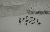 Crows in the snow 2007 by Gietl, Karl