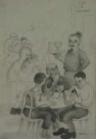 People sitting at sur la terrasse by Gietl, Karl