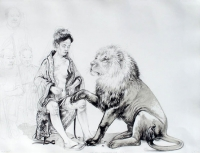 The lion who loved the lady by Victor, Diane
