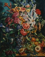 Flowers and fruit by Batha, Gerhard