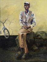Man with Bicycle by Daneel, Liliyane