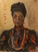 African woman by Kampte, Fritz