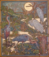 Herons And Egrets by Burstein, Heindle